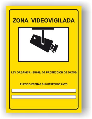 Se al cartel rotulo zona videovigilada sei0019 - Cartel zona videovigilada ...