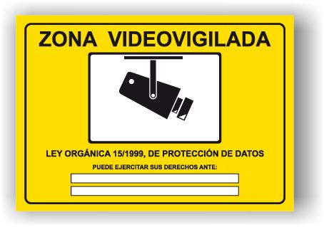 Se al cartel rotulo zona videovigilada sei0020 - Cartel zona videovigilada ...