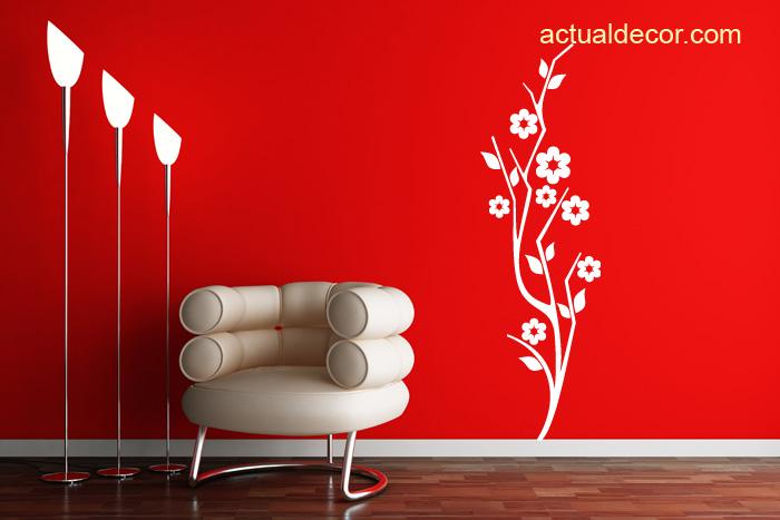 Vinilos florales pegatinas flores adhesivos flores for Laminas de vinilo para paredes