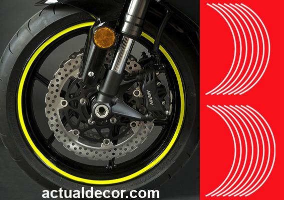 Adhesivos llantas moto pegatinas en vinilo placas para - Vinilos de motos para pared ...