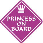Pegatina Princess on Board - bab008