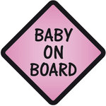 Pegatina Baby on Board Morado - bab012