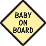 Pegatina Baby on Board Amarillo - bab014
