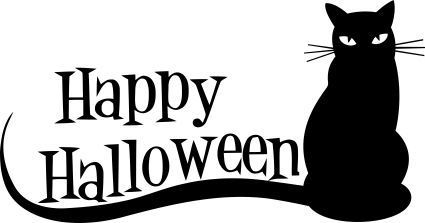 Pegatina Happy Halloween Gato FAN0062